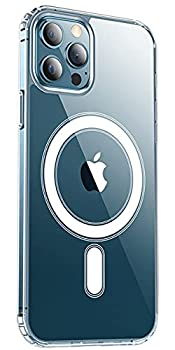 KISEN Clear Magnetic Phone Case for iPhone 12 Pro Max 6.7 inch [Non Yellowing] Compatible with MagSafe