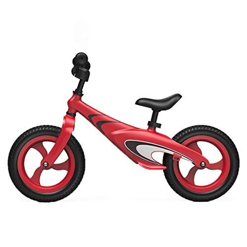 ANQIBIKE Balance Bike, Lega di Magnesio Adatta for Bambini di età Compresa tra 2-6 Anni Senza Pedali. Versione Competitiva ( Color : Red )