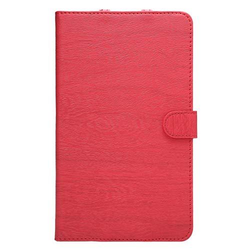 LMFULM® Hülle für Huawei MediaPad M2 801W / 803L (8,0 Zoll) PU Lederhülle Smart Hülle mit Auto Schlaf/Wach Cover Ständer Schutzhülle Flip Cover für Huawei M2 Holz Rot
