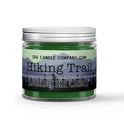 Hiking Trail Candle - Dry Dirt - Wildflowers - Tree Bark Scented - Made with 100% Vegan Soy Wax and Premium Fragrance - Available in 3 Adorable Sizes and Wax Tart