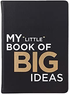Eccolo Big Ideas Writing Journal, 256 Lined Page Notebook, Flexible Faux Leather Cover