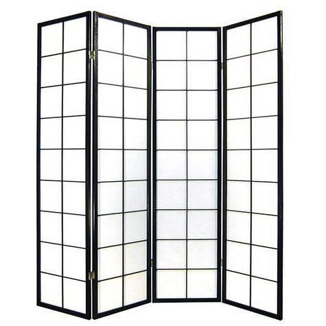 Fine Asianliving Japanischer Raumteiler L180xH180cm Paravent Shoji 180/B4 Reispapier Sichtschutz Trennwand Faltbar Raumtrenner Spanische Wand - 112-511