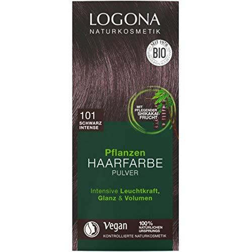 Logona Pflanzen-Haarfarbe-Pulver schwarz
