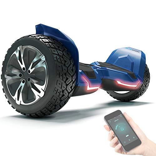 """8.5\"""" Premium Offroad Hoverboard Bluewheel HX510 SUV Deutsche Qualitäts Marke- Kinder Sicherheitsmodus & App - Bluetooth - Starker Dual Motor - Elektro Skateboard Self Balance Scooter (HX510_Blue)"""