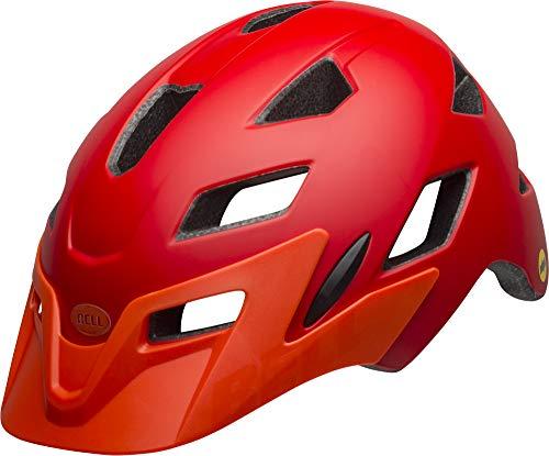 BELL Sidetrack Casco de Ciclismo, Infantil, Rojo Mate/Naranja, 47-54 cm