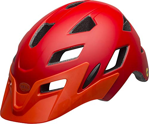 Bell Unisex Jugend SIDETRACK Child Fahrradhelm, mat red/orange, Unisize