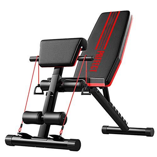 HJHY Klappbare Hantelbank - Schrägbank Bauchtrainer Verstellbare Sit-Up-Bank,Multifunktion Training Fitness Bank Set für Ganzkörpertraining -##1