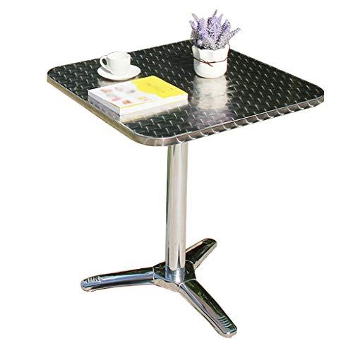 WZHFOLDINGTABLE geen noodzaak om balkon roestvrij staal tafel buiten Patio klaptafel tuintafel te installeren 2-4 personen multi-stijl D Metaal