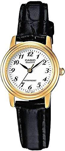 Casio Damen Analog Quarz Uhr mit Leder Armband LTP-1236PGL-7BEF