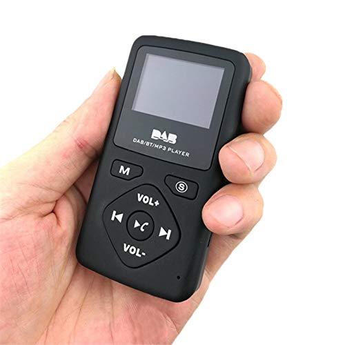 Hete-supply Pocket DAB Radio Portable Digital MP3-Player mit Bluetooth Lossless Sound Metal Music Player mit FM-Radio, Touch-Taste, Unterstützung bis zu 32G