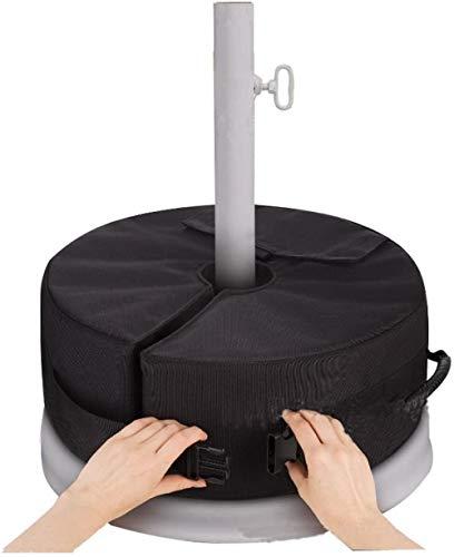 Sacco per pesi parasole rotondo rimovibile con base per ombrellone, il peso può raggiungere i 30 kg, forte resistenza agli agenti atmosferici