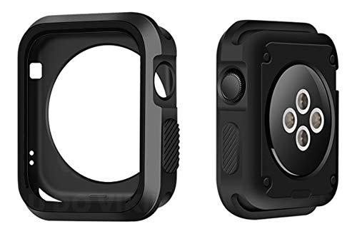 Capa Case Capinha Bumper Proteção Silicone Furos Preto, Compatível com Apple Watch 40mm