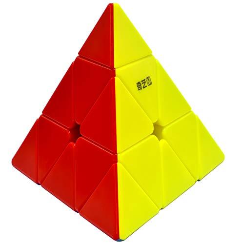 QY Toys MS Zauberwürfel Pyramide 3x3 3x3x3 Magic Cube Pyraminx Speed Puzzle Würfel Spielzeug für Kinder