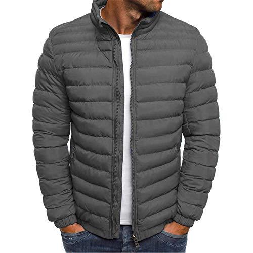 Soluo Men Bomber Jacket Lightweight Casual Softshell Flight Windbreaker Coat Outwear (Gray,Large)