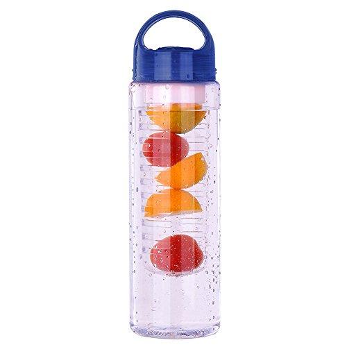 Sport 700ml Couvercle à rabat jus de citron Bouteille Fruit Infusion pour bouteille deau à infuseur Tasse Bleu Bleu
