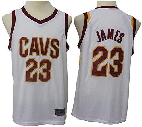 YZQ Jersey De Baloncesto Masculino - Cleveland Cavaliers # 23 Lebron James - Gimnasio Retro Tops De Deportes De Secado Rápido Transpirable,S(165~170cm/50~65kg)