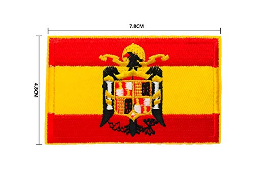BANDERA DEL PARCHE BORDADO PARA PLANCHAR O COSER (Águila de San Juan 7.8cm)