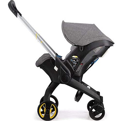 Foldable All-in-1 Stroller Folding Umbrella Stroller Car Seat Babies Sleeping Basket Aluminum Alloy Lightweight Stroller Waterproof Rain Wind Cover (Gray)
