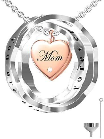 S925 Sterling Silver Keepsake Jewelry Cremation Pendant Urn Necklace For Ashes You Are Always product image