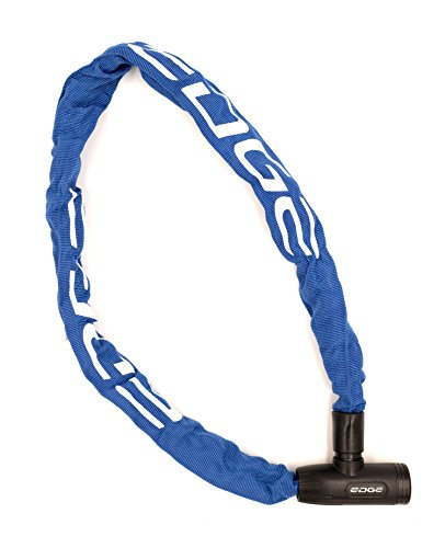 Edge Cadenas de Vélo Chaîne Granito Château avec chaînes acier pour vélo et moto 6mm x 900mm, 750g, bleu