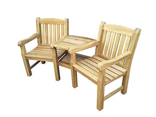 MAJESTIQUE GARDEN FURNITURE Chunky Oak Love Seat