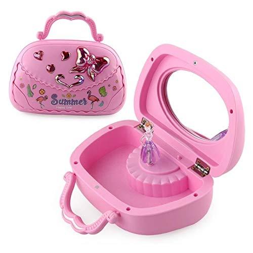 Green/Pink Girls Baile Bailarina Bailarina Caja de música Juguetes Caja de joyería Carousel Giratorio Clockwork Music Toys Niza Regalo para niñas (Color : Pink)