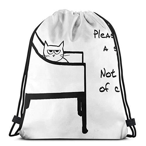 Todas las sillas pertenecen al gato – Divertidas bolsas de cordón para nevera, bolsa de gimnasio, bolsa de deporte, bolsa de viaje, bolsa de regalo
