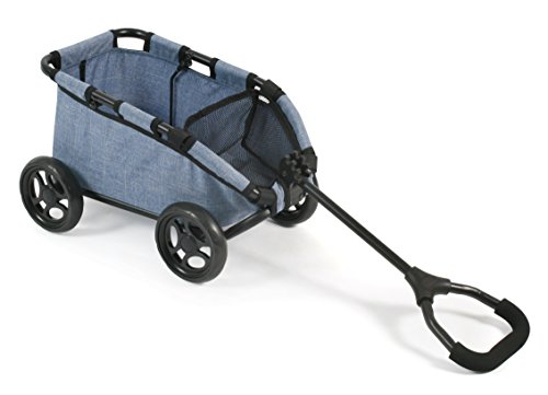 Bayer Chic 2000 660 50 - Ziehwagen Skipper, Handwagen für Puppen oder Teddybären, Jeans Blue