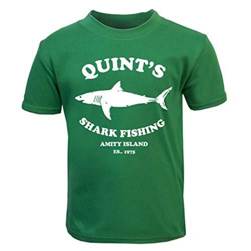 Jaws Quints Shark Fishing Baby and Toddler Short Sleeve T-Shirt