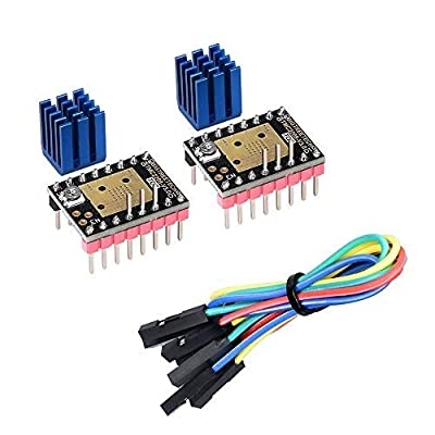 KINGPRINT TMC2208 V3.0 UART Mode Stepper Motor Driver with Heatsink for SKR V1.3 MKS GEN L Ramps 1.4/1.5/1.6 3D Printer Control Board(Pack of 2pcs)