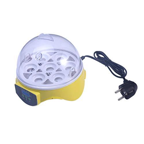 vap26 Incubadora de Huevos Control automático de la Temperatura de Giro de los Huevos, 7 Huevos Mini Aves de Corral para Pollos Patos Ganso Pájaros(Nosotros)(UE,Norma de la UE)