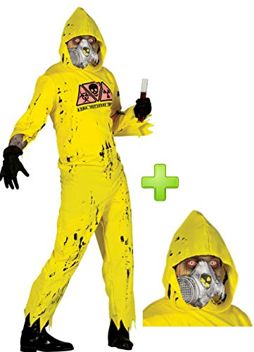 Disfraz de Radiactivo con mascara de gas