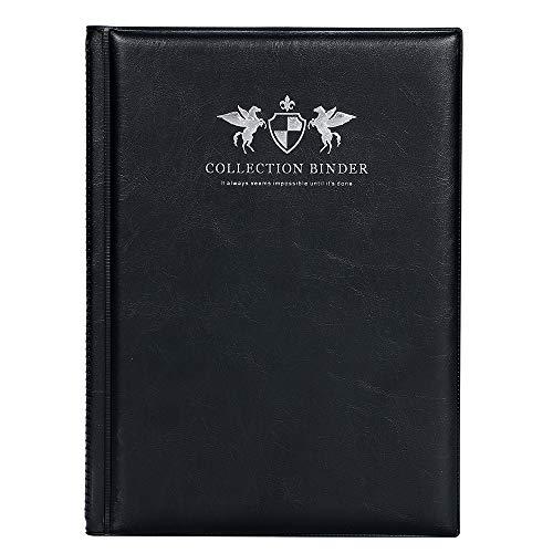 mini2x ビックリマン チョコシール用 コレクション ファイル 48・52mm 対応 12ポケット 12ページ (黒)