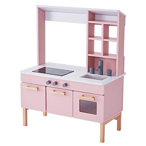 LOWYA ロウヤ ままごと遊び おままごとキッチン 調理器具 食器 おもちゃ箱収納 ローズピンク