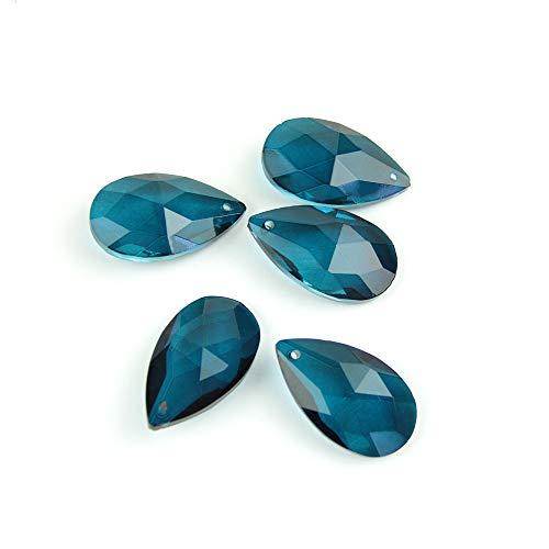 LiuliuBull L Cristal Chandelier lágrima Vidrio Recorte Colgante Vidrio prismas Coloridos Colgantes Colgantes (Color : Zircon Blue, Size : 50mm 100pcs)