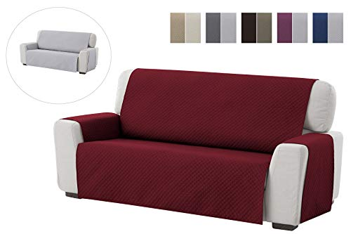 textil-home Salvadivano Trapuntato Copridivano Adele 4 posti Reversibile. Colore Rosso