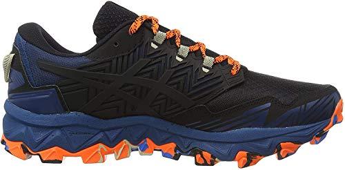 Asics Mens Gel-Fujitrabuco 8 Running Shoe, Directoire Blue/Black, 45 EU