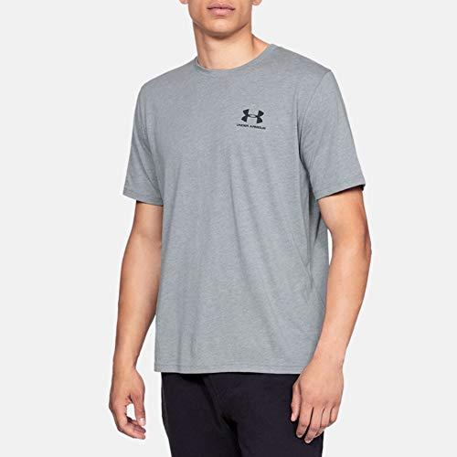 Under Armour Herren Sportstyle Logo Tank sportliches Muskelshirt aus superweichem Stoff, ärmelloses Sportshirt mit loser Passform, Steel Light Heather / Black, L