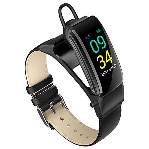 Reloj inteligente con Bluetooth, para la salud y el fitness, control de la presión arterial/ritmo cardíaco, monitor de fitness para el hombre y mujer, sección de cinturón negro