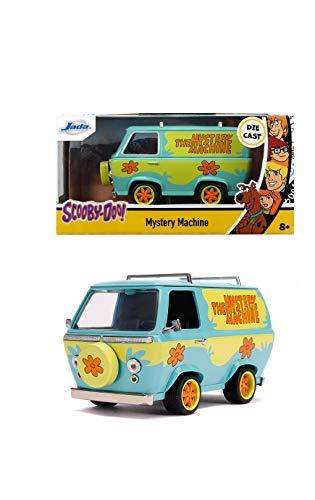 Jada Toys 253252011 Scooby DOO Mystery Machine, Spielzeugauto aus Die-cast, Freilauf, Maßstab 1:32