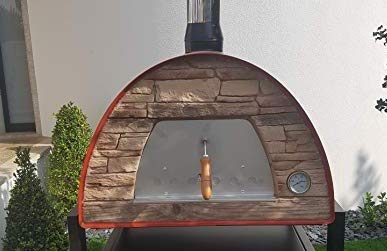 MAXIMUS Red Arena (Rustic Stone Effect) Wood-Fired Bread, Meat, Pizza Fish Outdoor Oven Real Wood Real Flavor Escape The Indoors ™ Stand not Included