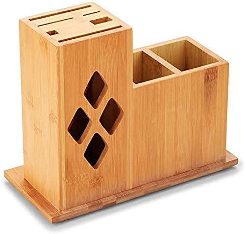 Mes Stand for Kitchen Universal Messenblok Bamboe messenblok Countertop Block Meshouder Gadgets/Bestek Organizer en keuken eet hout hulpmiddelen ZHANGKANG