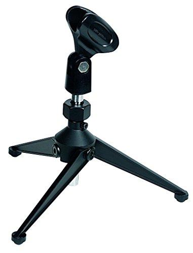 Proel DST60TL - Base supporto in metallo per microfono da tavolo, Nero