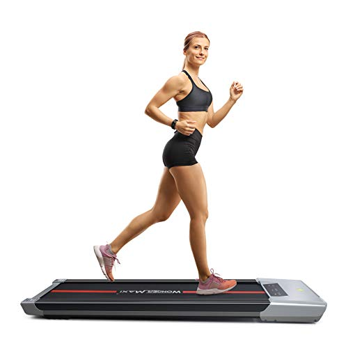 Wonder Maxi Under Desk Walking Treadmill Workout Walking Machine Electric with LCD Display and Remote Control Portable Compact Treadmill for Jogging and Walking Exercise Machine Home Gym (Black)