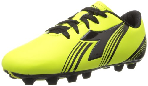 Diadora Soccer Avanti MD JR Soccer Shoe (Toddler/Little Kid/Big Kid),Fluorescent Yellow/Black,4.5 M US Big Kid