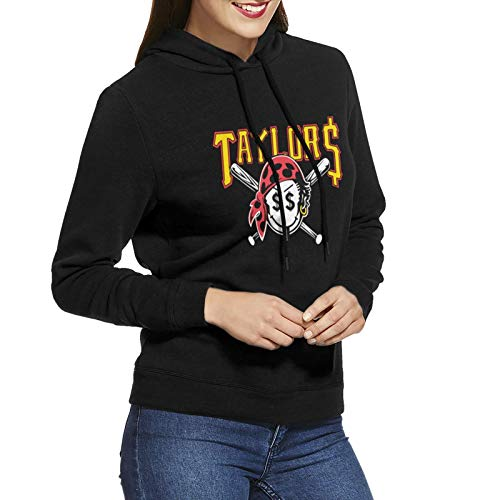RebeccaMBrown Taylor Gang Taylors Smiley Pirate Face Womens Casual Hooded Sweatshirt Long Sleeve Hoodies Blouse Black