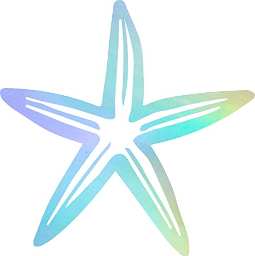 USC DECALS Ornamental Starfish (Hologram) (Set of 2) Premium Waterproof Vinyl Decal Stickers for Laptop Phone Accessory Helmet Car Window Bumper Mug Tuber Cup Door Wall Decoration