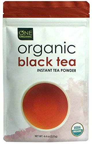 ONE ORGANIC Instant Tea Powder (Black) – 4.4 oz. – 125 Servings – USDA Certified Organic – 100% Pure Tea - Instant Hot or Iced Tea – Unsweetened