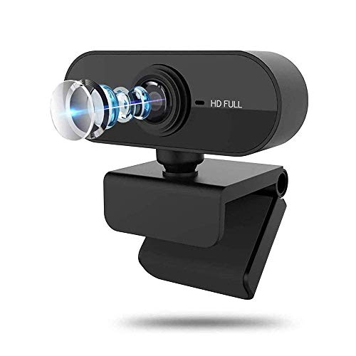 Webcam with Microphone, 1080P HD Web Camera Streaming Computer USB Web Camera for Zoom/Skype/YouTube/Facetime, Best Widescreen Camera for PC Mac Laptop Desktop