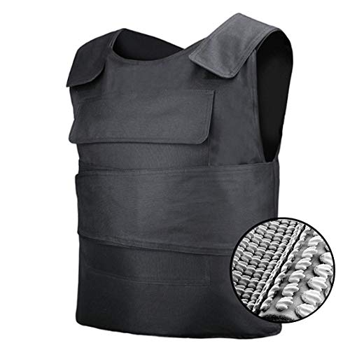 ybaymy 防刃ベスト 防刃チョッキ 前面 後面 フルカバー よろい 耐刃ベスト 暴漢 対策 警備 警護 護身 フリーサイズ 黒